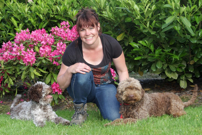 Mijn eigen honden Lagotti Senna en Zita